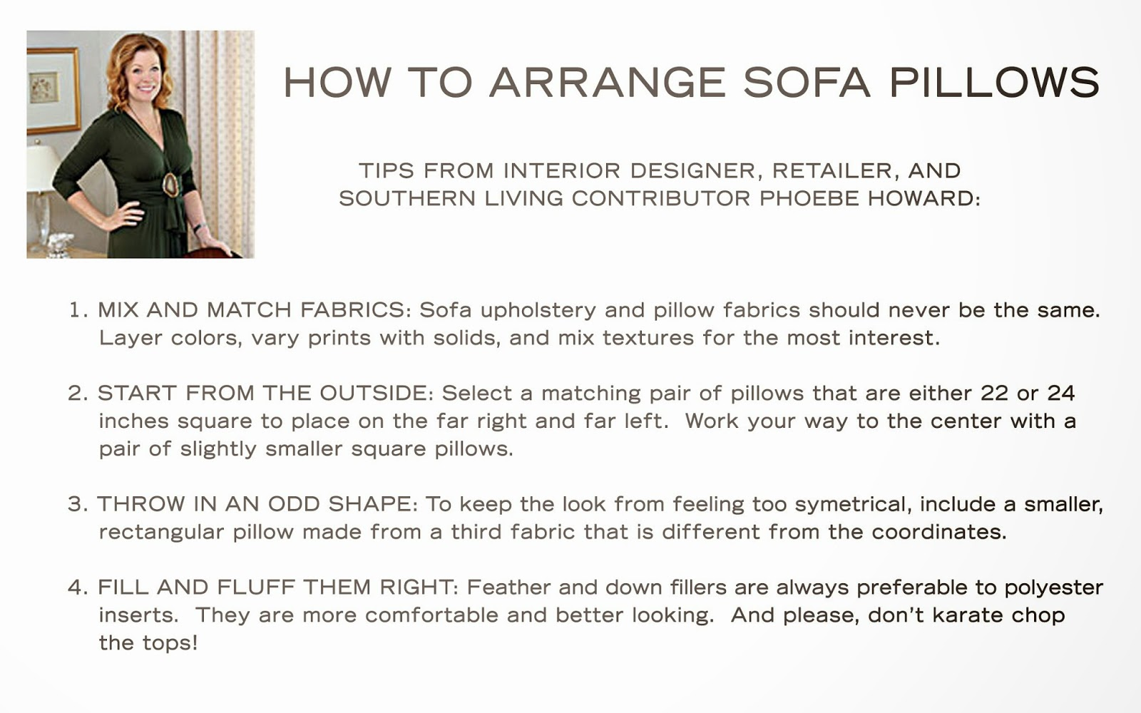 Phoebe Howard Design Tips From The May 2013 Issue Of