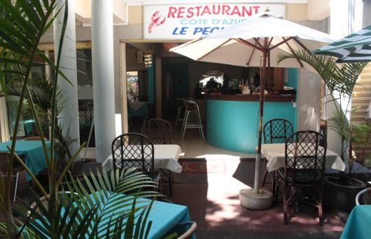 Restaurant Cote D'azur Le pecheur Pereybere Hotel and Apartments