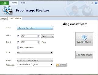 تحميل برنامج تغيير حجم الصور Free Image Resizer
