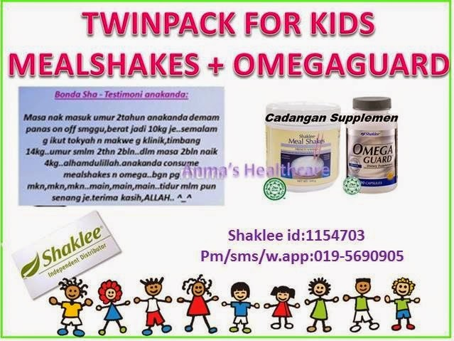 shaklee untuk kanak-kanak