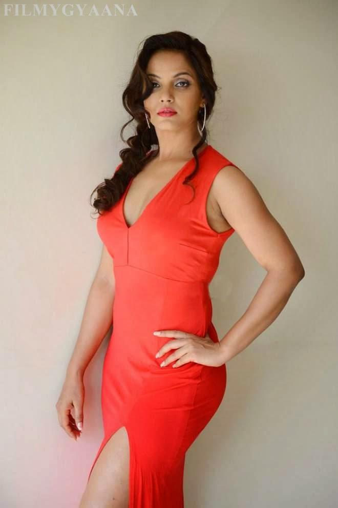 Neetu Chandra Hot in Red Dress Photos