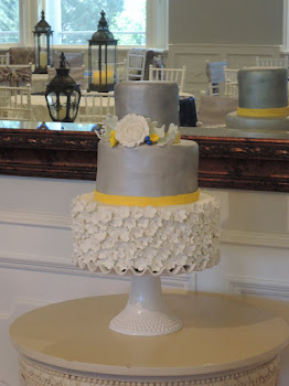 3-tier round fondant with gumpaste flowers