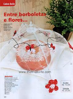 COBRE BOLOS DECORADOS COM FUXICOS DE BORBOLETAS E FLORES