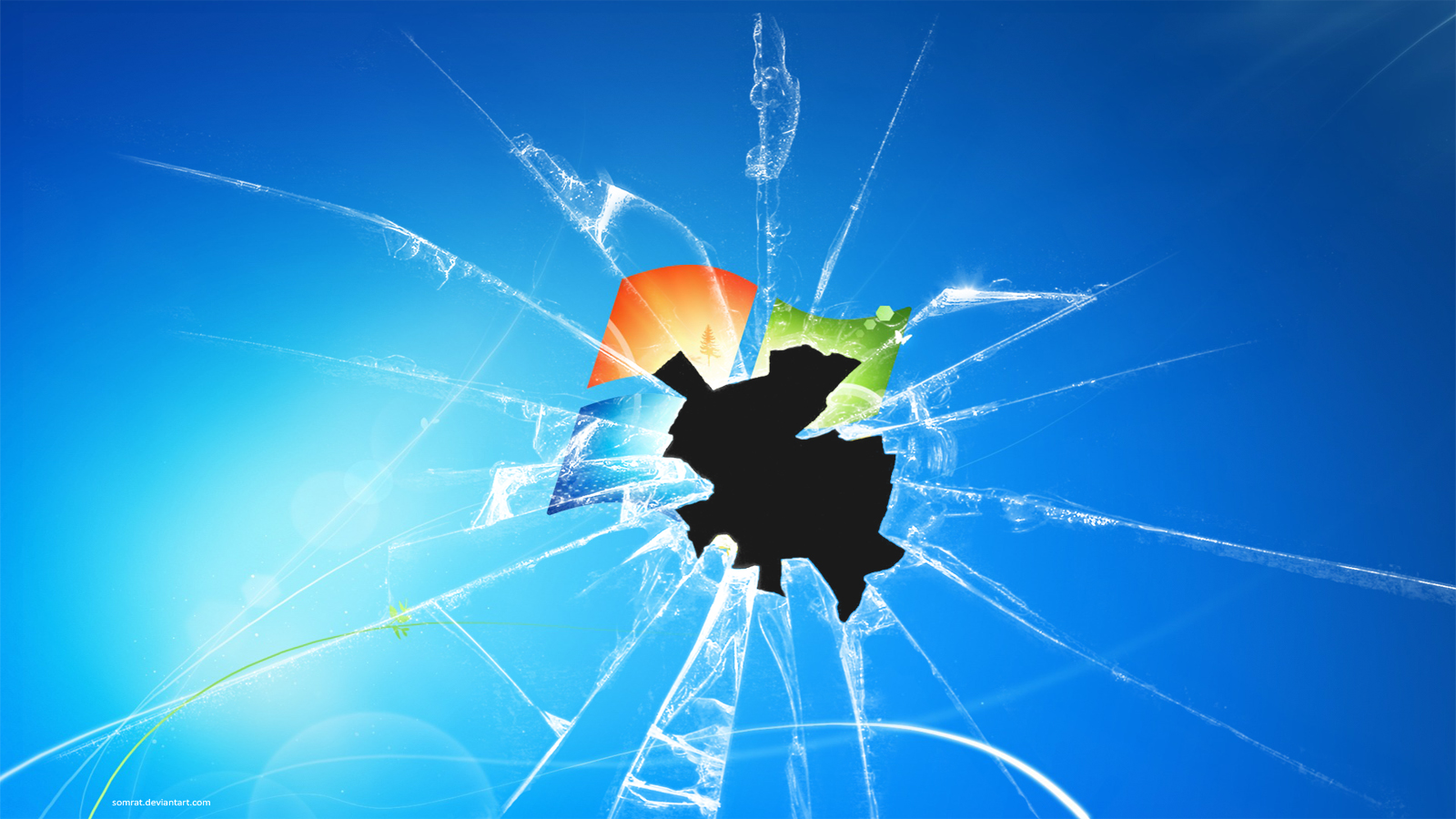 broken glass wallpaper for android