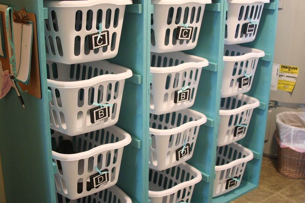 someday crafts laundry basket organizer. Black Bedroom Furniture Sets. Home Design Ideas