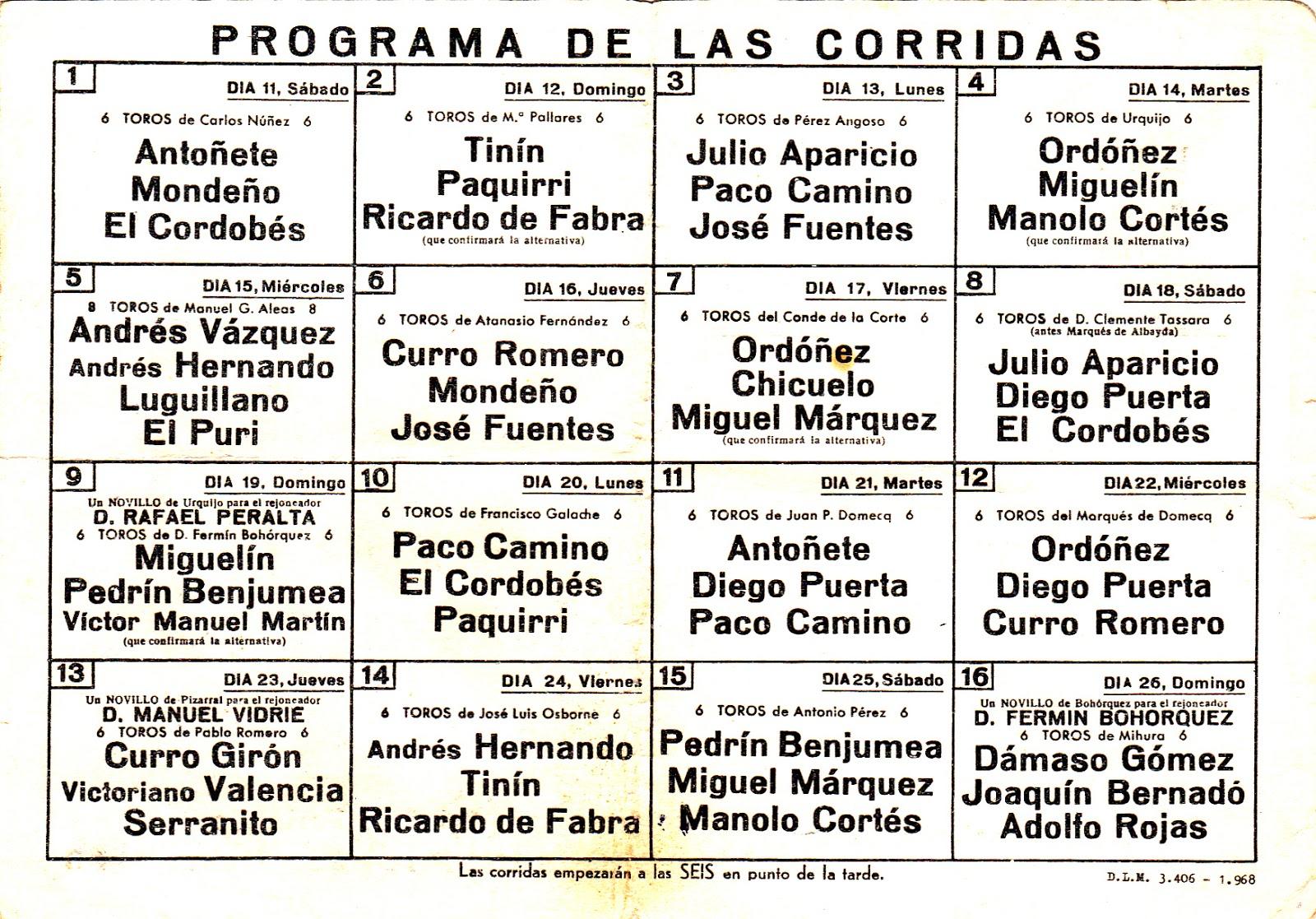 Feria de San Isidro de 1968 bilaketarekin bat datozen irudiak