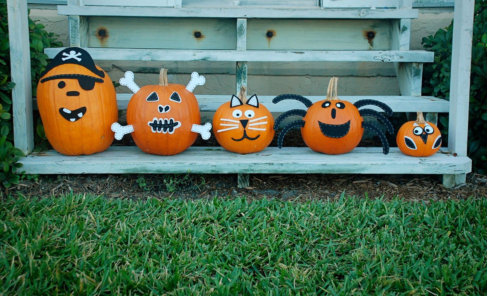 Alternative to pumpkin carving a small snippet - Decoracion calabazas halloween ...