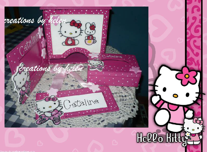Helencreaty set para cuarto de bebe decoracion hello kitty for Cuarto para nina hello kitty