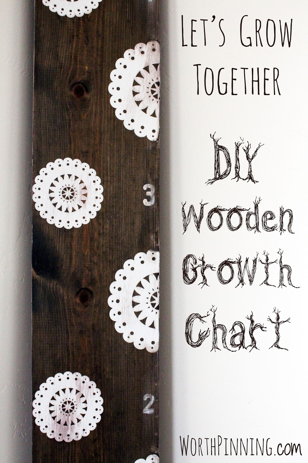 Worth Pinning DIY Wooden Growth Chart