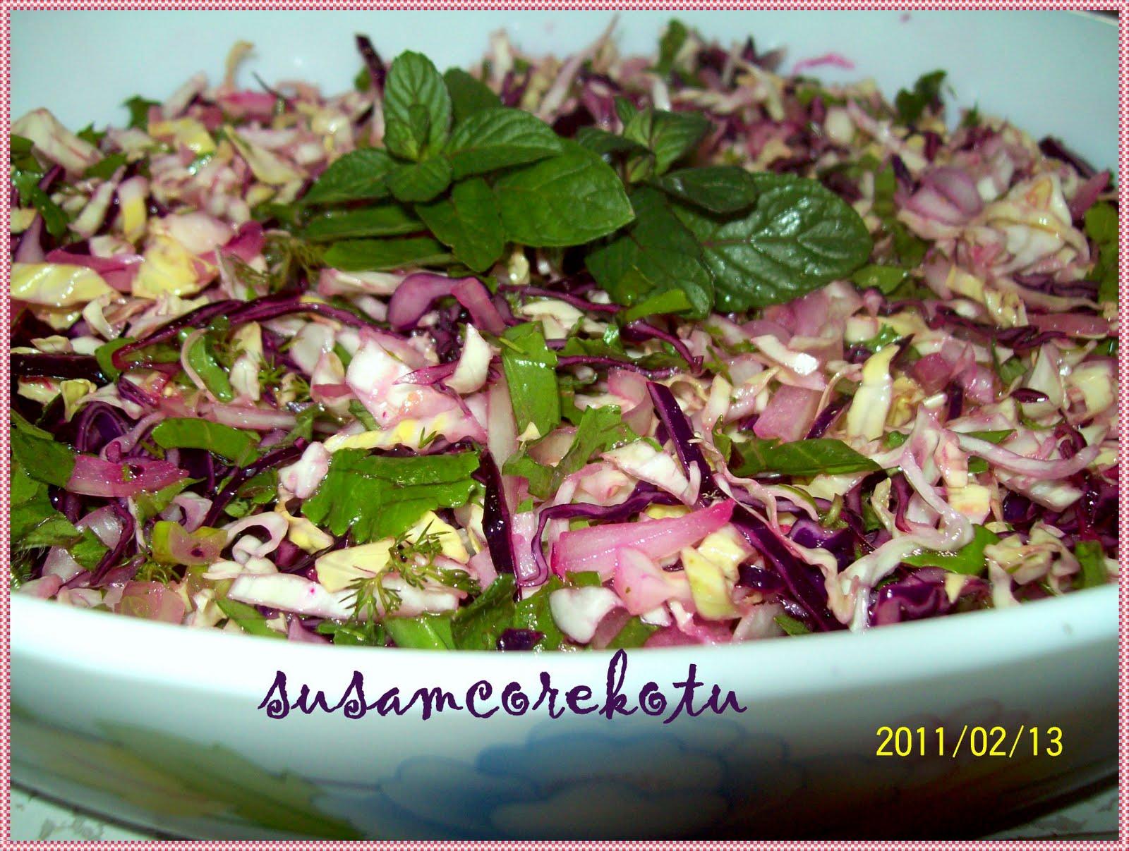 Kızılcık ile lahana salatası tarifi 51