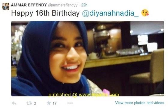 6 Gambar Diyanah Nadia teman wanita Ammar Effendy