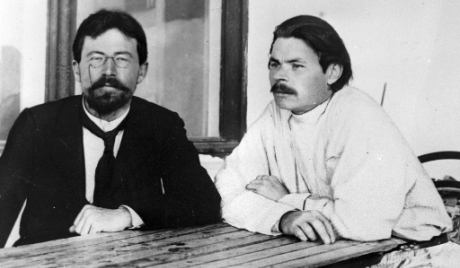 Anton Chekhov And Tolstoy Anton Chekhov With Maxim Gorky