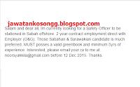 Offshore Sabah Kerja Kosong
