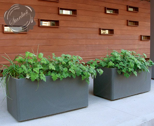 large rectangular designer planter pots modern outdoor planters