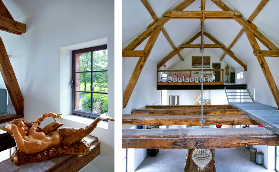 Loveisspeed Inspiring Barn Conversion In Burgundy