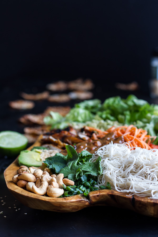 Chicken, Avocado Lemongrass Spring Roll Salad With Hoisin Crackers 6 | Vietnamese Recipes