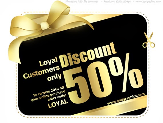 Gold and Black Shopping Card