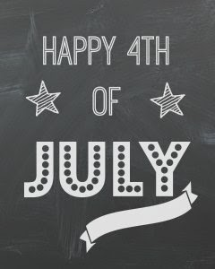 4th of July chalkboard printable art
