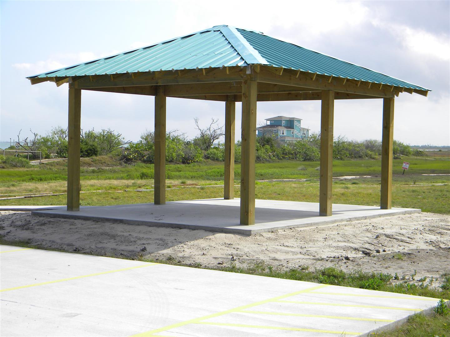 Covered Shelter Polygon : Sunset bay community new covered picnic shelter completed