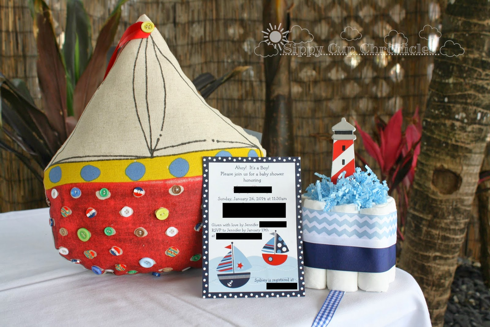 My Sister's Nautical Theme Baby Shower - Ahoy, It's A Boy!