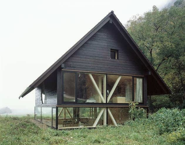 144) A Simple Barn Shaped House Design In Blasthal Switzerland ...