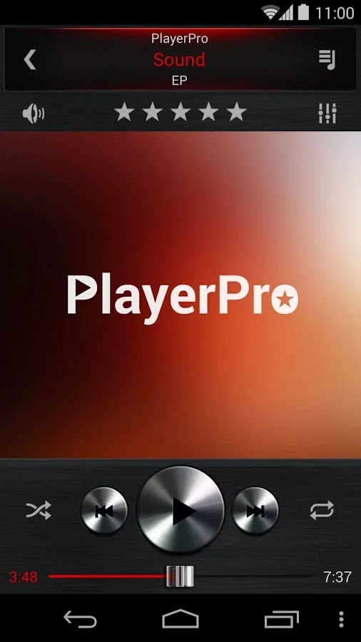 PlayerPro Dark Metal 3in1 Skin v1.0.3
