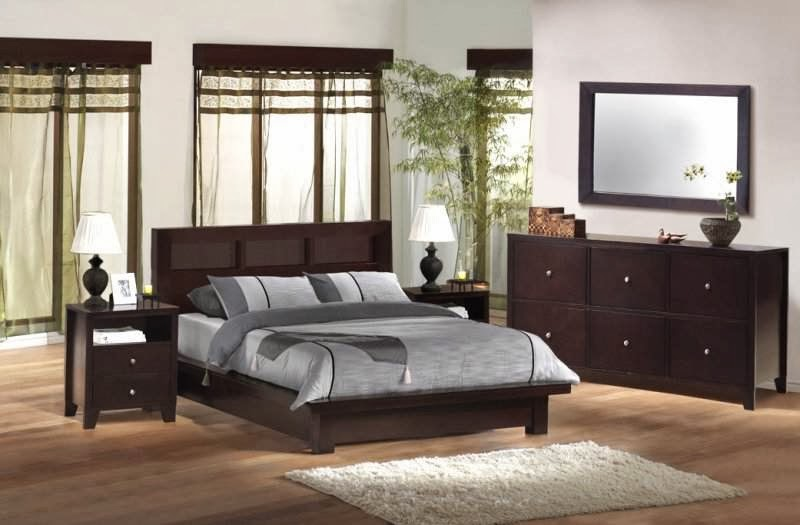 Home Decorating Interior Design Ideas Oak Wood Bedroom Furniture