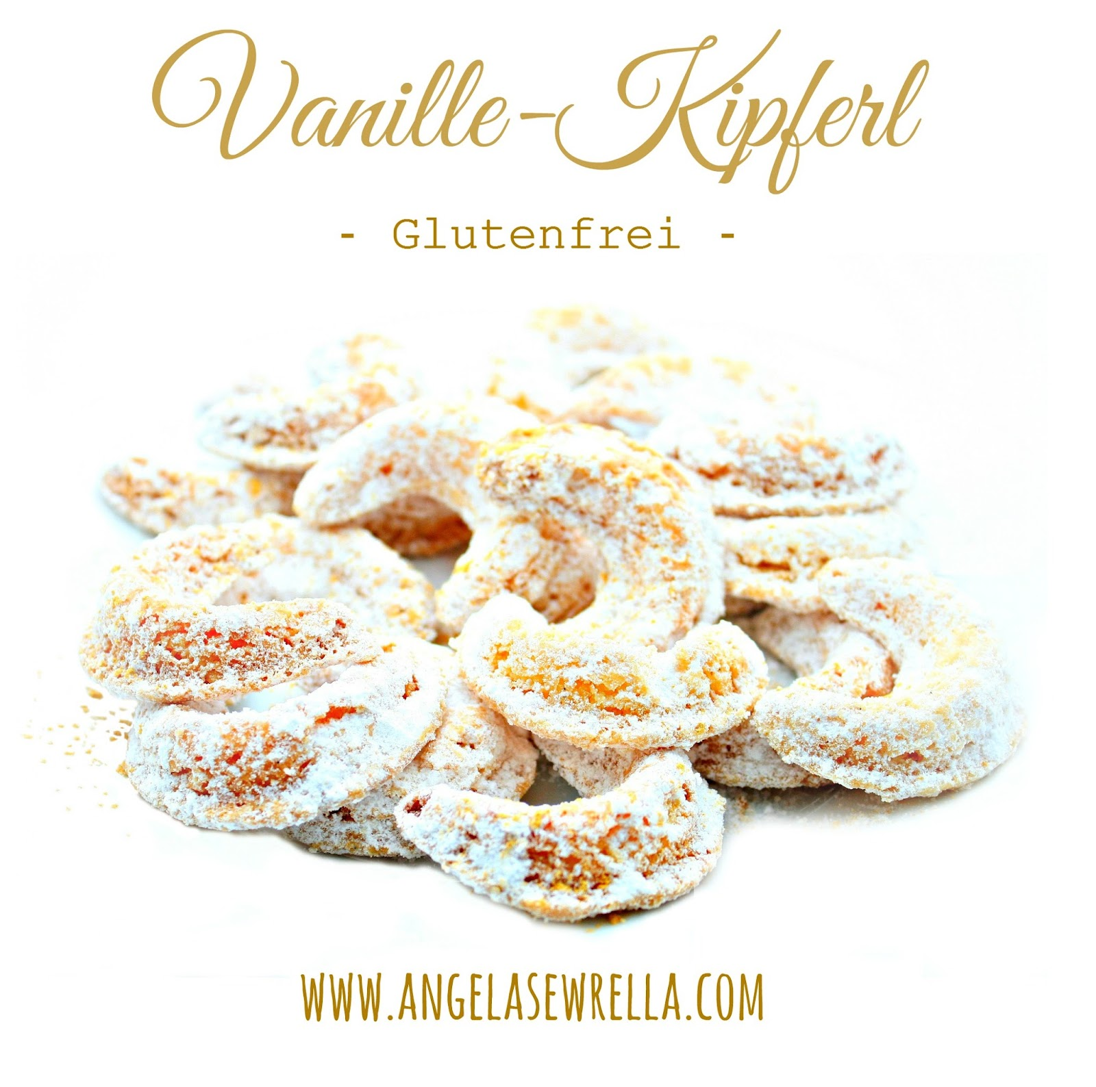 selbstgebackene Vanille-Kipferl vom mit der Vanille-Kipferl-Form von Zenker