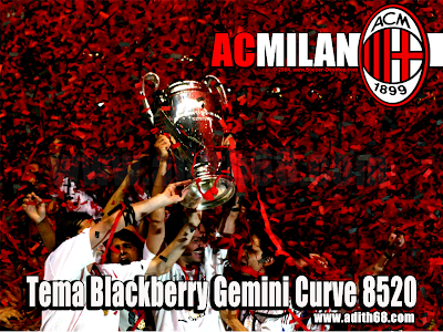 Download Tema AC MILAN Terbaru Blackberry Gemini 8520 - Adith68.com