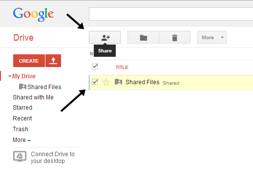 how to host files on Google Drive