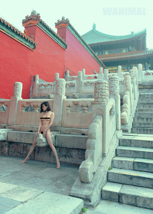 Naked model taken in the Forbidden City