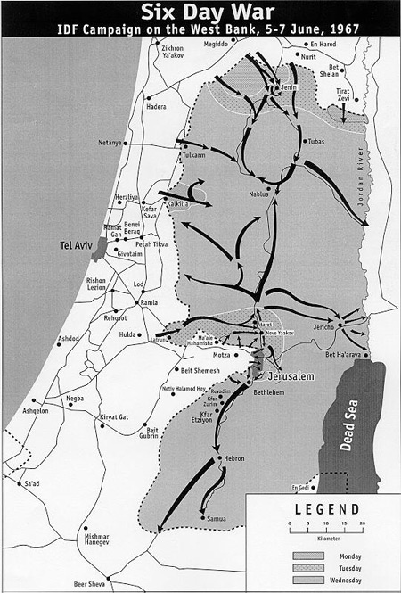 analysis of the six day war During the 1967 six day war, was the united states at war, too and on whose side.