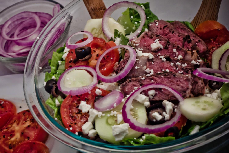 Greek Bison Steak Salad