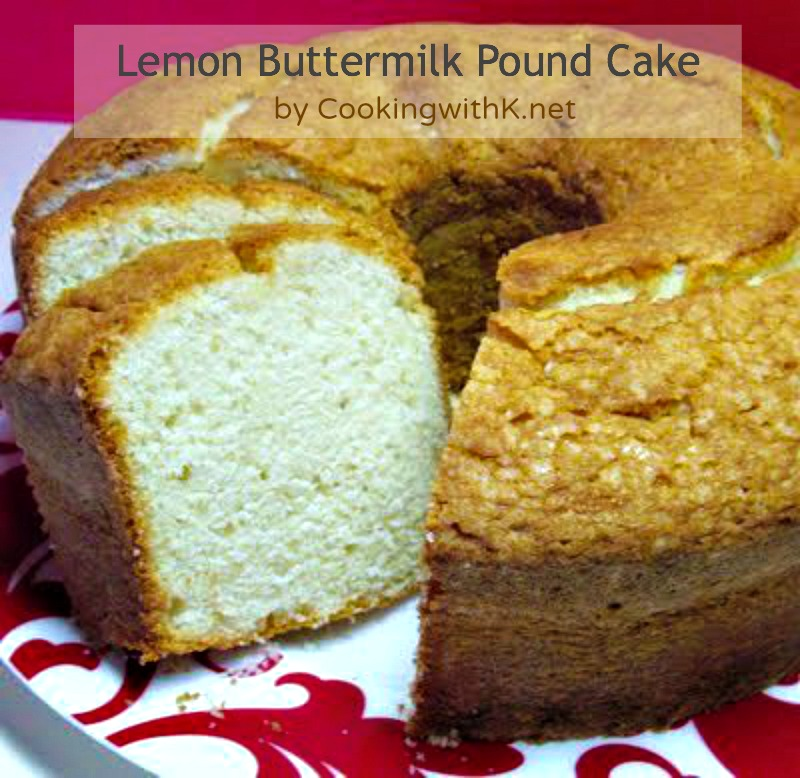 Cooking with K: Buttermilk Pound Cake {Granny's Recipe}
