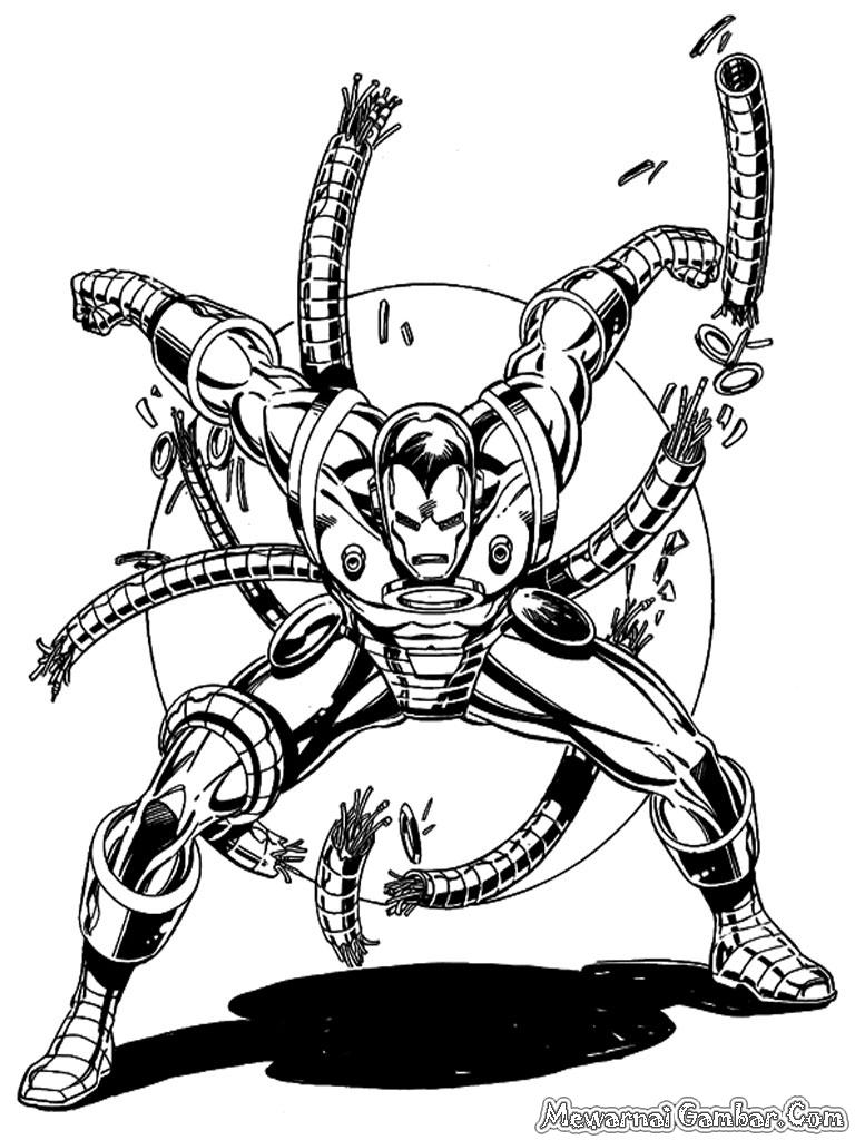 Mewarnai Iron Man | Mewarnai Gambar