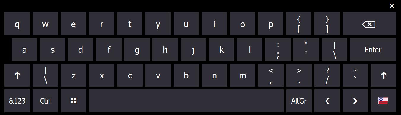 virtul keyboard