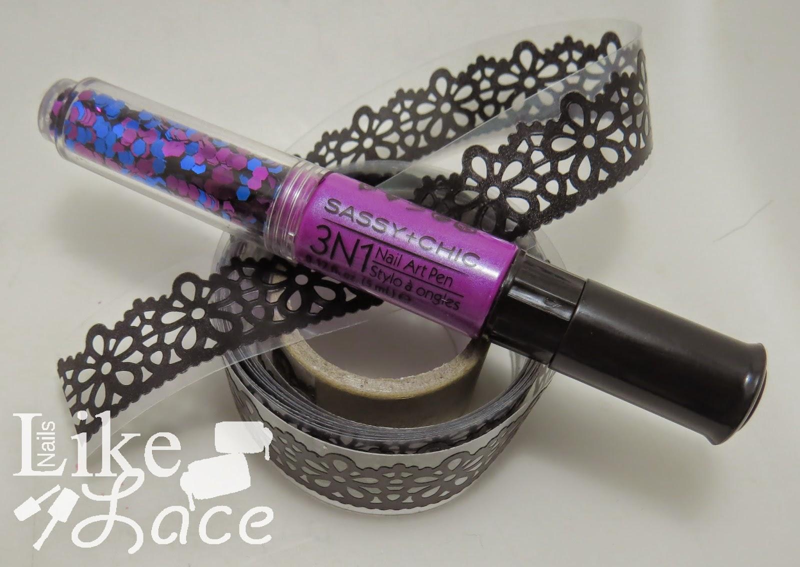 Nailslikelace 2 Manicure Floral Tape On Purple