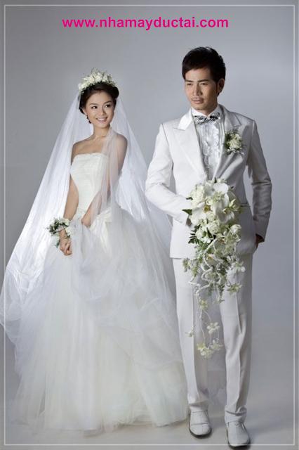 Vest cưới chú rể màu trắng - NMĐT01