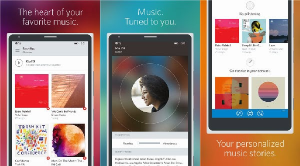 Rdio Music Streaming Services app