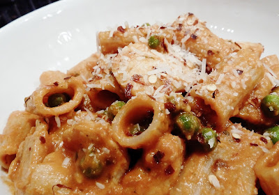 Buca di Beppo's Spicy Chicken Rigatoni.