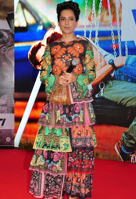 Kangana Ranaut Wore a Valentino Printed Silk Gown