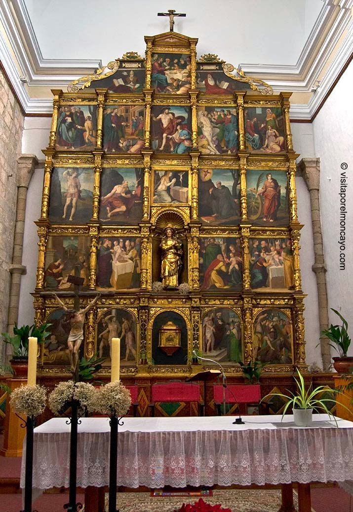 Retablo Mayor Iglesia Santa María Magdalena Tarazona Mudéjar Aragonés