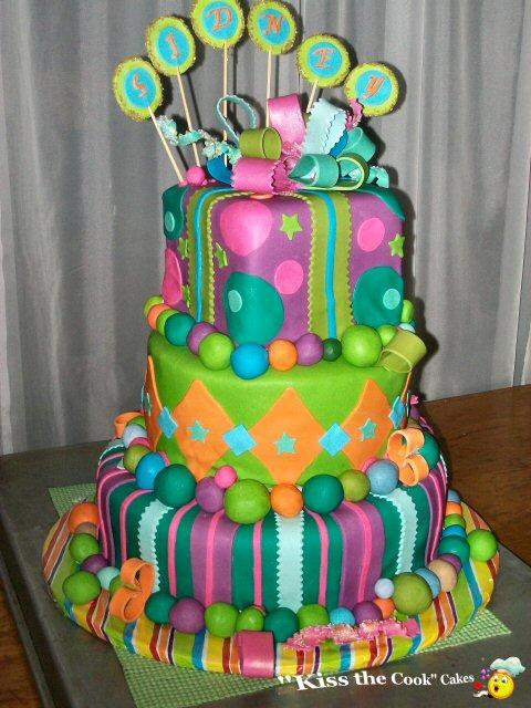 Decorating Ideas > Fun Fondant Cakes I Love Looking At Colorful Cakes! ~ 125538_Fondant Cake Ideas Birthday