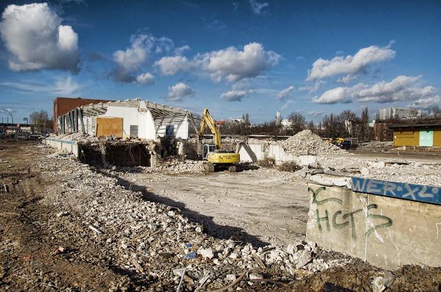 Baustelle Europacity, Entwicklungsgebiet Heidestraße, Abriss, Am Nordhafen, 13353 Berlin, 06.02.2014