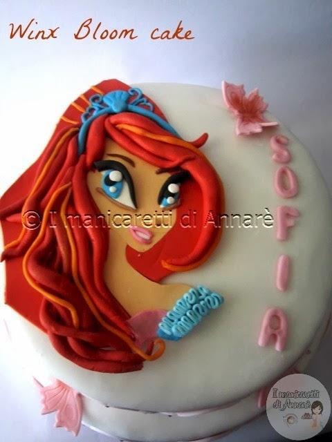 winx bloom cake, per la piccola sofia