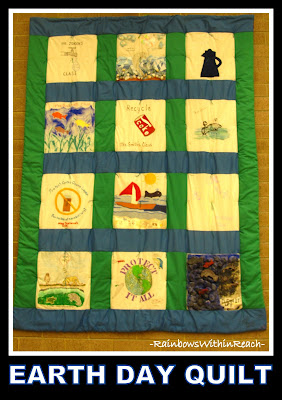 photo of: Earth Day Quilt via RainbowsWithinReach Quilt RoundUP
