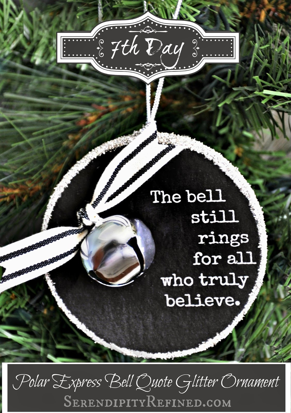 Serendipity Refined Blog: Polar Express Bell Quote Ornament ...