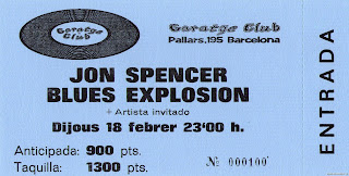entrada de concierto de jon spencer blues explosion