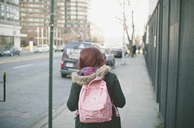 Manhattan, New York, Fjallraven, Kanken, pink