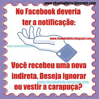 Recadinho Indireta para Facebook